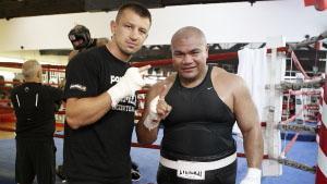 Томаш Адамек и Дэвид Туа тренируются в одном зале