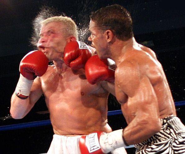 удара у боксеров даже